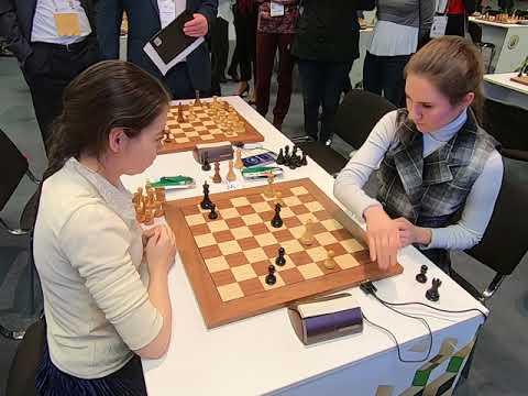 WIM Polina Shuvalova - GM Aleksandra Goryachkina World Blitz Ch St.Petersburg 2018