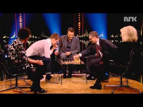 Чемпион мира Магнус Карлсен - Билл Гейтс. Мат в 9 ходов.