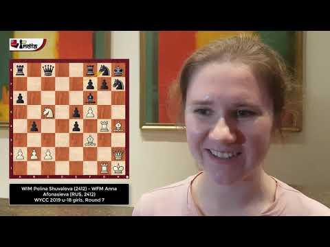 Polina Shuvalova wins the 'ChessBase Best game of the day award'